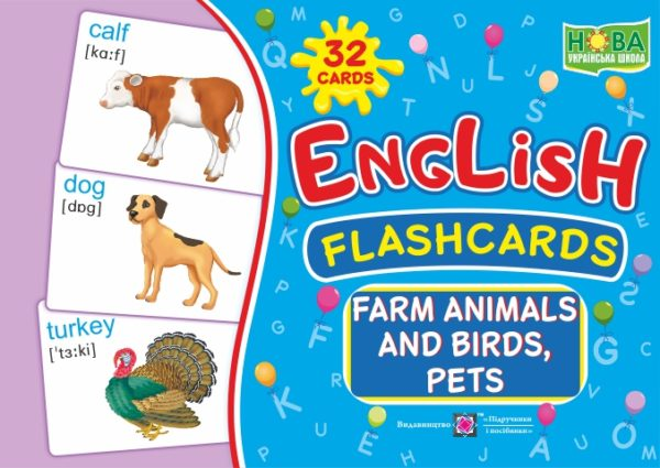 English : flashcards. Farm animals, birds and pets