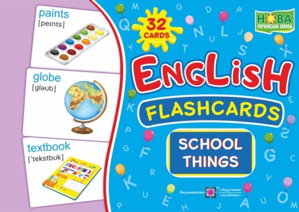 English : flashcards. School things