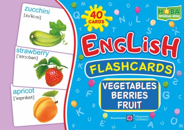 English : flashcards. Vegetables, berrieds, fruit