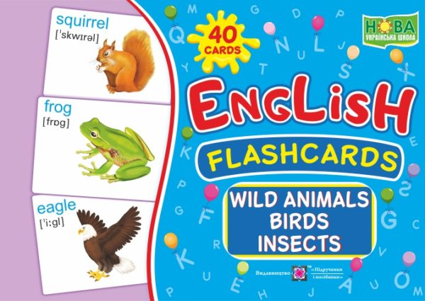 English : flashcards. Wild animals, birds, insects