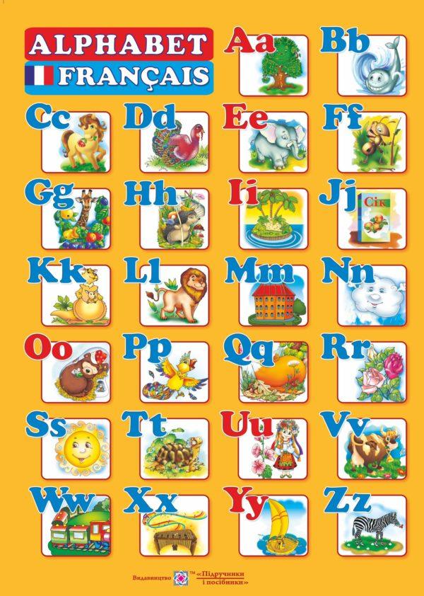 Плакат «Французький алфавіт» (А2)