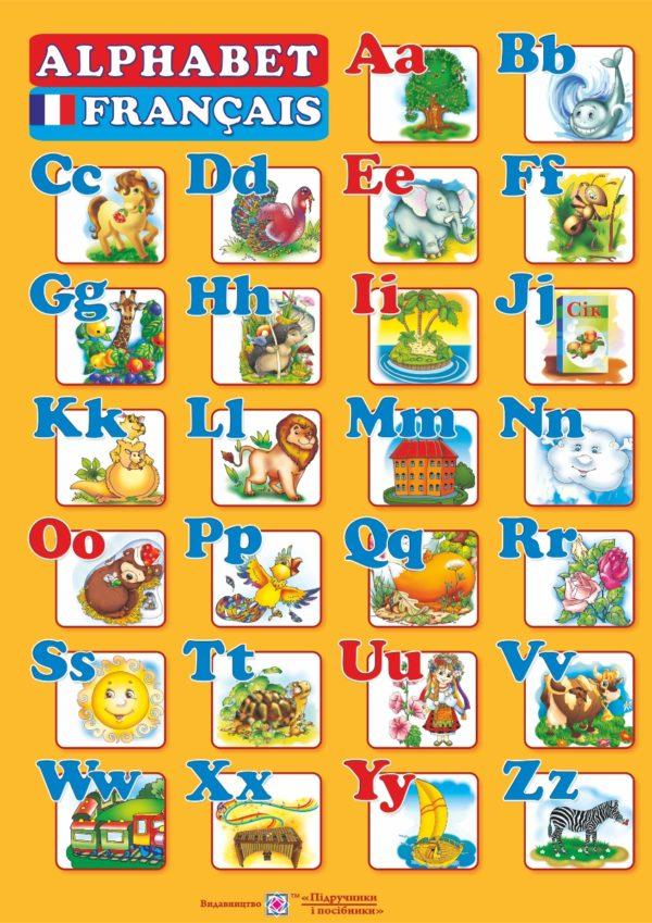 Плакат «Французький алфавіт» (для учня)