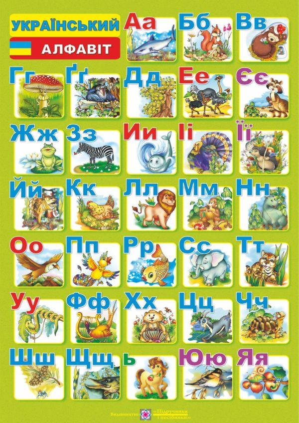 Плакат «Український алфавіт» (друкований)
