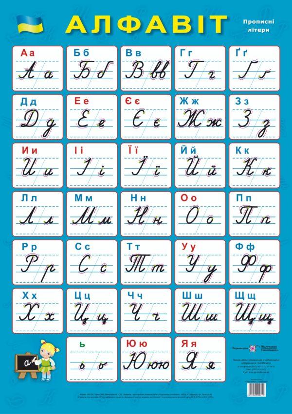 Плакат «Український алфавіт. Прописні літери»